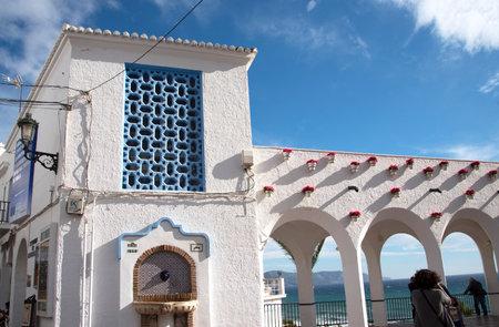 nerja: The loggia on the Balcon de Europa in Nerja Spain Editorial