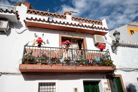 nerja: Balcony in Nerja in Andalucia Spain