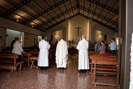 nerja: End of Service in Church in Nerja Spain Editorial