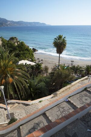 nerja: One of the 7 beaches in Nerja Costa Del Sol Spain