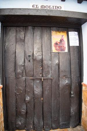 nerja: Old Doorway in the backstreets of Nerja in Spain