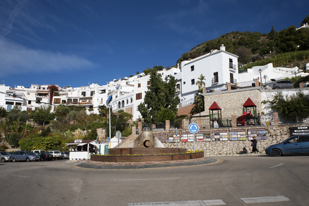 frigiliana: Frigiliana one of the most beautiful white villages of the Southern Spain area of Andalucia in the Alpujarra mountains Editorial