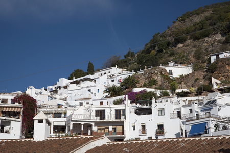 alpujarra: Frigiliana one of the most beautiful white villages of the Southern Spain area of Andalucia in the Alpujarra mountains Editorial