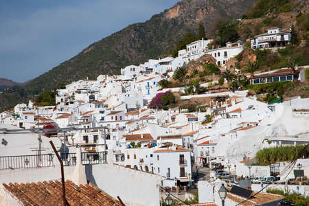 alpujarra: Frigiliana one of the most beautiful white villages of the Southern Spain area of Andalucia in the Alpujarra mountains. Editorial