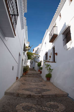 frigiliana: Frigiliana one of the most beautiful white villages of the Southern Spain area of Andalucia in the Alpujarra mountains. Editorial