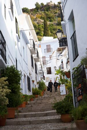 Frigiliana one of the most beautiful white villages of the Southern Spain area of Andalucia in the Alpujarra mountains. Editorial