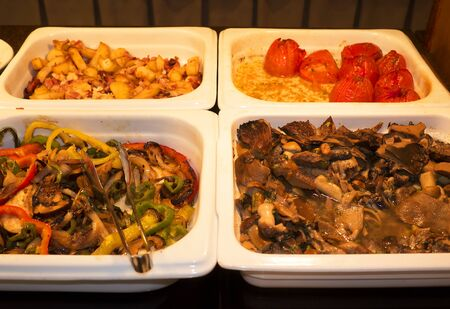 nerja: Buffet Food on Display in Nerja on the Costa del Sol Spain Stock Photo
