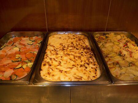 nerja: Food on hotel buffet in Nerja Andalucia Spain Stock Photo
