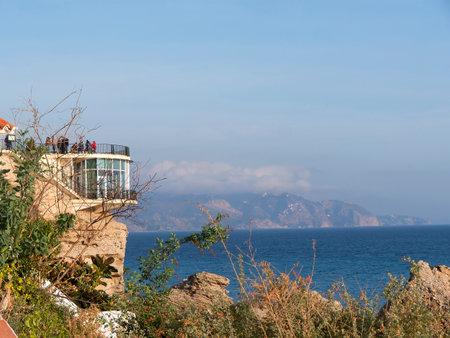 balcon: Balcon de Europa a viewpoint in Nerja Spain Editorial