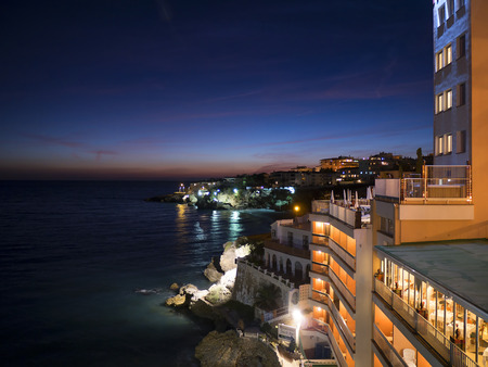 nerja: Night views from the Balcon de Europa in Nerja Spain