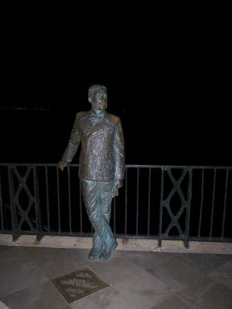 balcon: Statue on King Alphonso on th Balcon de Europa in Nerja Spain