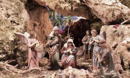 Scène Crèche de Noël à Nerja Espagne