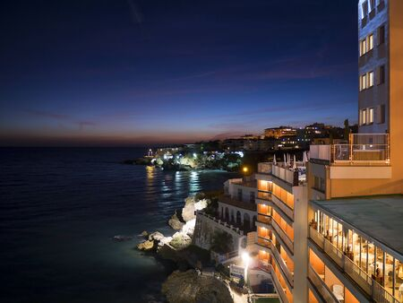 balcon: Night views from the Balcon de Europa in Nerja Spain