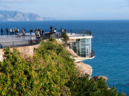 balcon: The Balcon de Europa is a viewpoint down the coast set in the cliffs in Nerja Spain