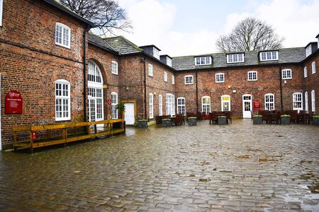 jacobean: Stable Courtyard at Temple Newsam House in Leeds Yorkshire Editorial