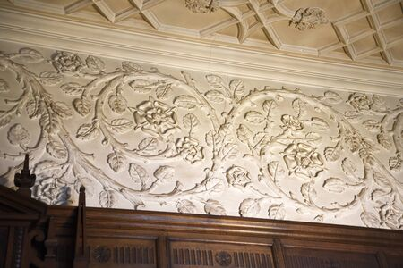 tudor: Tudor plasterwork detail in Temple Newsam House in Leeds Yorkshire