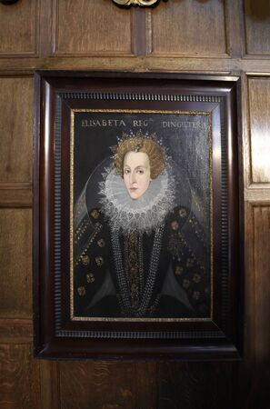 jacobean: Portrait of Queen Elizabeth 1 in Temple Newsam House in Leeds Yorkshire