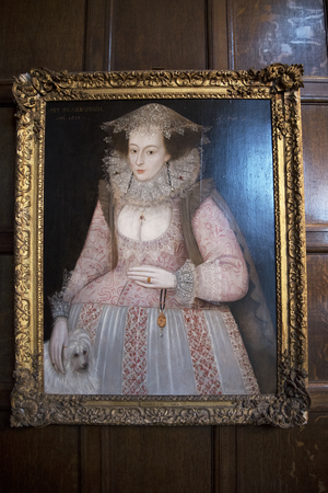 jacobean: Portrait of Jacobean lady in Temple Newsam House in Leeds Yorkshire Editorial