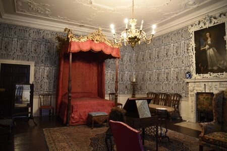 jacobean: Luxurious Bedroom in Temple Newsam House in Leeds Yorkshire Editorial