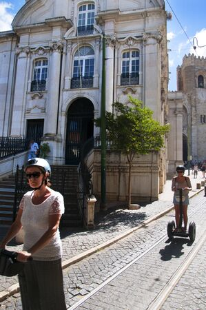 o jorge: Alfama is the oldest district of Lisbon, it spreads down the southern slope from the Castle of São Jorge to the River Tagus Editorial