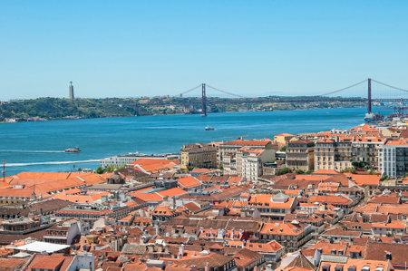 da: Vasco da Gama Bridge across the River Tagus in Lisbon Portugal