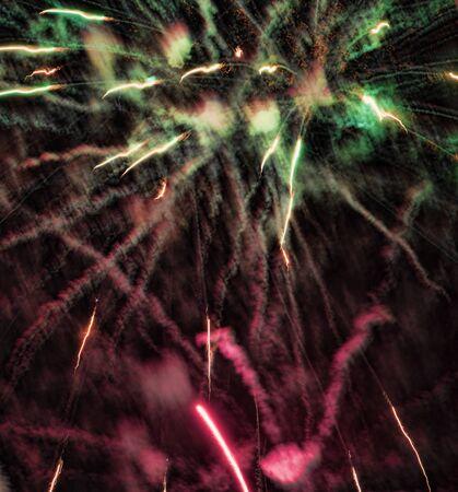 nerja: FIreworks on New Years Eve on the Balcon de Europa in Nerja Spain Stock Photo