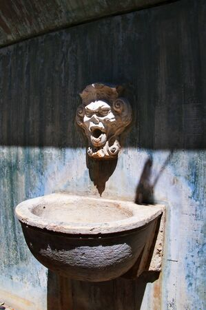o jorge: Water Fountain at So Jorge Castle a Moorish castle occupying a commanding hilltop overlooking the historic centre of the Portuguese city of Lisbon and Tagus River.