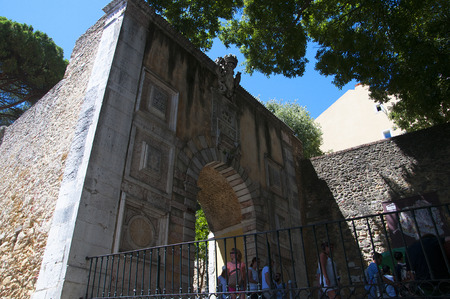 jorge: Entrance to the Castle of San Jorge in Lisbon Capital city of Portugal