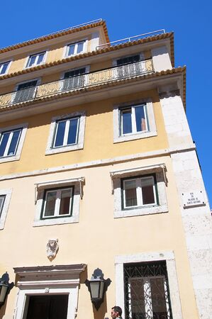 oldest: Building in the Alfama is the oldest district of Lisbon, it spreads down the southern slope from the Castle of So Jorge to the River Tagus