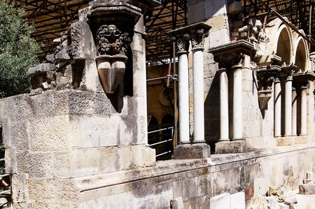 patriarchal: Excavations at the Patriarchal Cathedral of St. Mary Major or Lisbon Cathedral known as the Se in Portugal