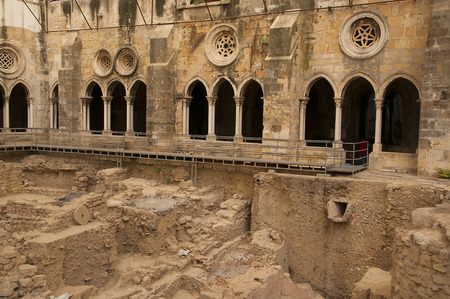 se: Excavations at the Patriarchal Cathedral of St. Mary Major or Lisbon Cathedral known as the Se in Portugal