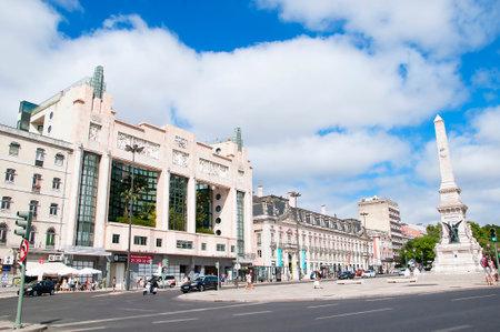 brenda kean: Old Art Deco Movie theatre on the Avenida Da Liberade in Lisbon Capital City of Portugal
