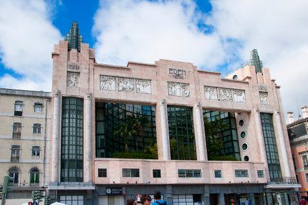 brenda kean: Art Deco Movie Theatre on the Avenida de Liberdade in Lisbon the Capital city of Portugal