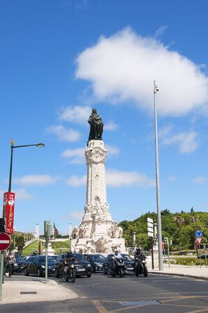statesman: Statue of the 1st Marquis of Pombal who was an 18th-century Portuguese statesman. He was Secretary of the State of the Kingdom of Portugal