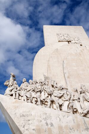 henry: The Memorial to the Portuguese explorer Henry the Navigator on the waterfront in Lisbon the capital city of Portugal in Europe.