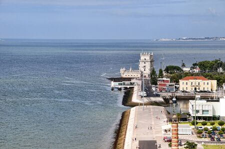 belem: Waterfront and Marina at Belem on the River Tagus in Lisbon the capital city of Portugal Editorial