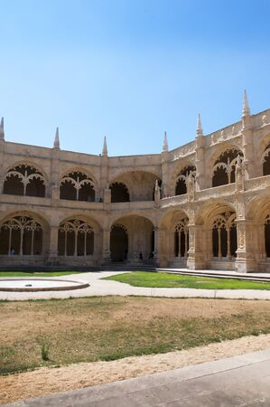 belem: The Cloisters of the Jernimos Monastery at Belem in Lisbon Portugal
