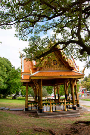 javanese: Javanese or Oriental house or temple situated in the Praa do Imprio gardens in the Belem district of Lisbon