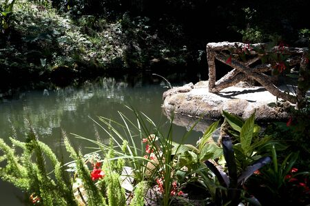 conceived: waterlilies at the Monserrate Palace and the gardens was conceived by an English architect, James Knowles Jr.as a summer residence for the Cook Family