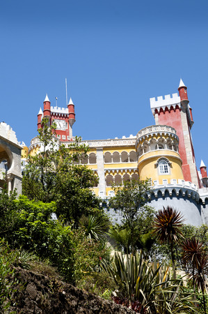 fantastical: Palacio da Pena in Sintra is a wild fantasy of domes,towers,crennelations and ramparts approached from a drawbridge that does not draw