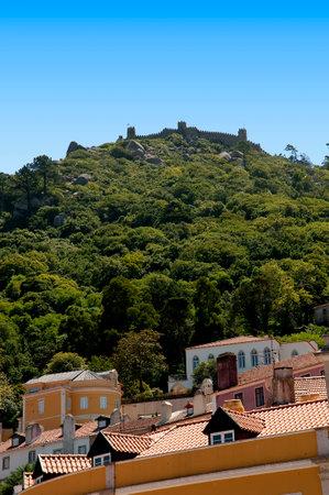 moorish: Moorish Castle above Sintra in the Hills above Lisbon Portugal