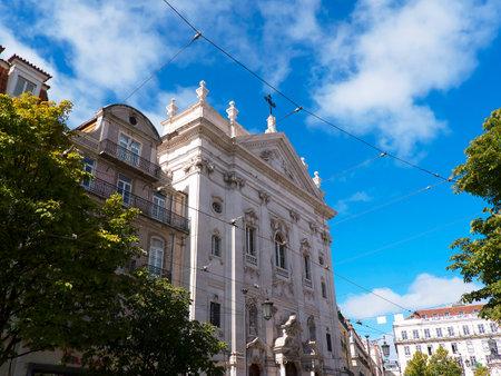 lyrical: The Praca de Camoes In Lisbon Portugal Editorial