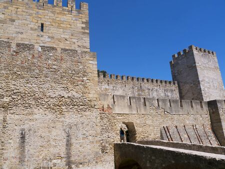 crusaders: Sao Jorge Castle is a Moorish castle occupying a commanding hilltop overlooking the historic centre of the Portuguese city of Lisbon and Tagus River. The strongly fortified citadel dates from medieval period of Portuguese history, and is one of the main t