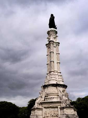 statesman: Memorial to the 1st Marquis of Pombal  who was an 18th-century Portuguese statesman. He was Secretary of the State of the Kingdom of Portugal and the Algarves