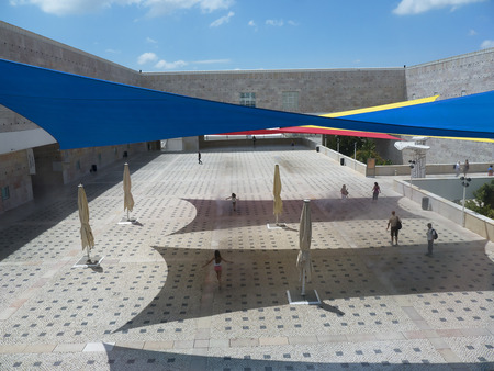 awnings: The Museum of Contemporary Art in Belem Lisbon Portugal Editorial