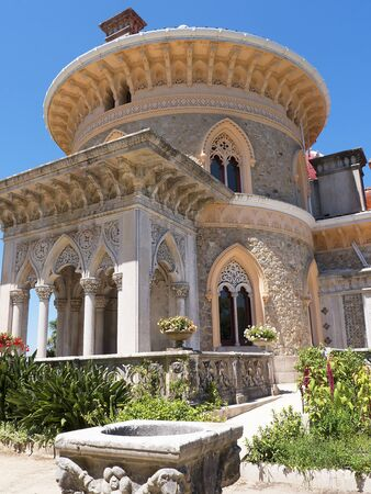 palatial: The Monserrate Palace is an exotic palatial villa located near Sintra, Portugal, the traditional summer resort of the Portuguese court. Editorial