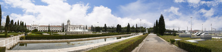 centred: In the heart of Belem is the Praça do Império: gardens centred upon a large fountain, laid out during World War II.