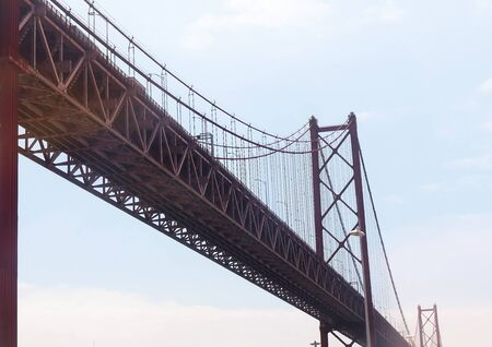 the tagus: The Vasco Da Gama Bridge over the River Tagus in Lisbon Portugal Editorial