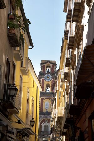 belltower: The belltower of the Cathedral in Sorrento Ialy Editorial
