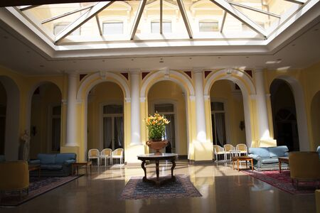 sirens: Foyer of luxury hotel in Sorrento Italy